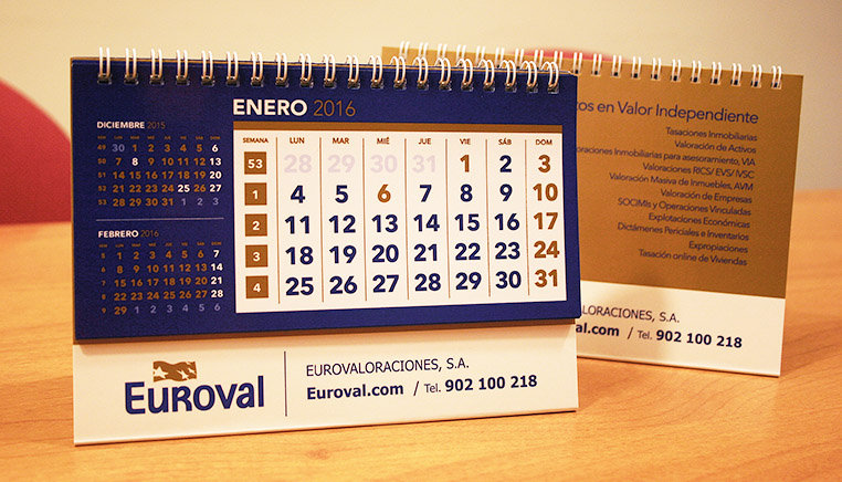 Dise o de calendario corporativo euroval 2016 grupo - Disenos de calendarios ...
