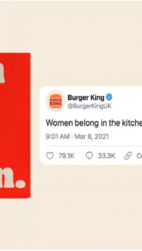 Burger King women belong in the kitchen