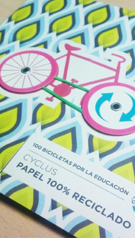 Cyclus Paper, 100 bicicletas por la educación