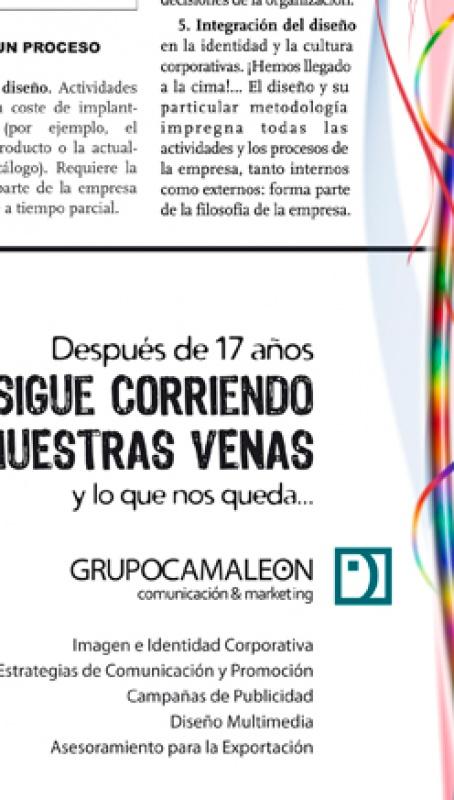 Grupo Camaleón Creativos, internacionalización y marca - 25 aniversario