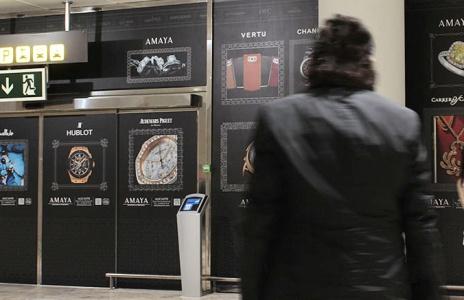 Diseño paneles Amaya Joyeros Aeropuerto de Alicante
