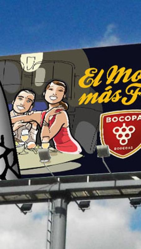 Monoposte para Marina Espumante de Bodegas Bocopa