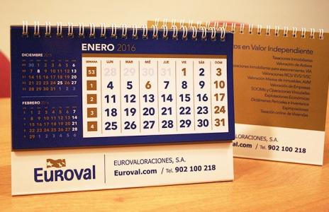 Diseño de calendario corporativo Euroval 2016