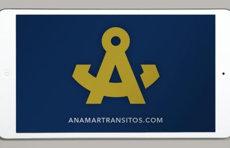 Diseño de imagen corporativa para Anamar Logística y Tránsitos, S.L.