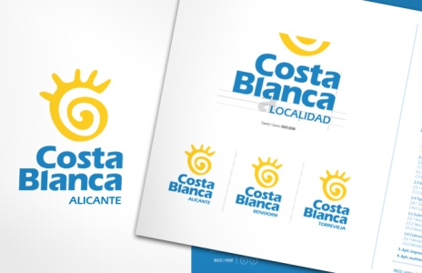 Logotipo y Manual de Normas Gráficas Costa Blanca, Patronato Provincial de Turismo 'Costa Blanca'