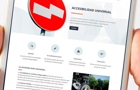 Nueva web para Fundación Accede, fundación para la accesibilidad universal