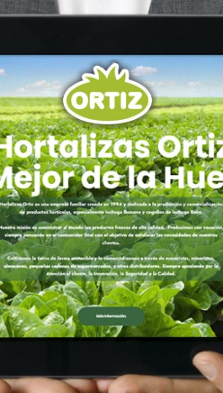 Nueva web para Hortalizas Ortiz por Grupo Camaleón Creativos