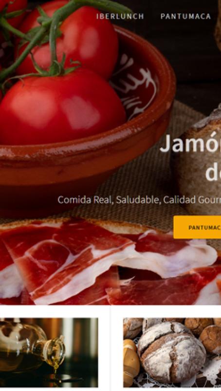 Web de Iberlunch Pantumaca, por Grupo Camaleón Creativos